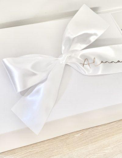 Bridesmaid Personalised Ribbon Gift Box (Empty)