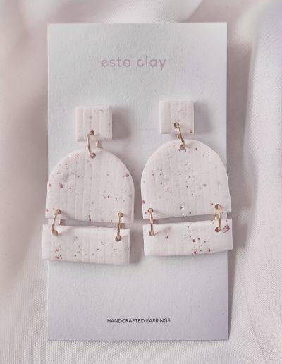 Cecilia Clay Earrings