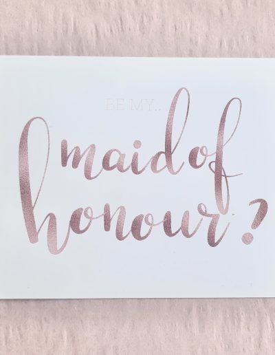 Will you be my maid of honour